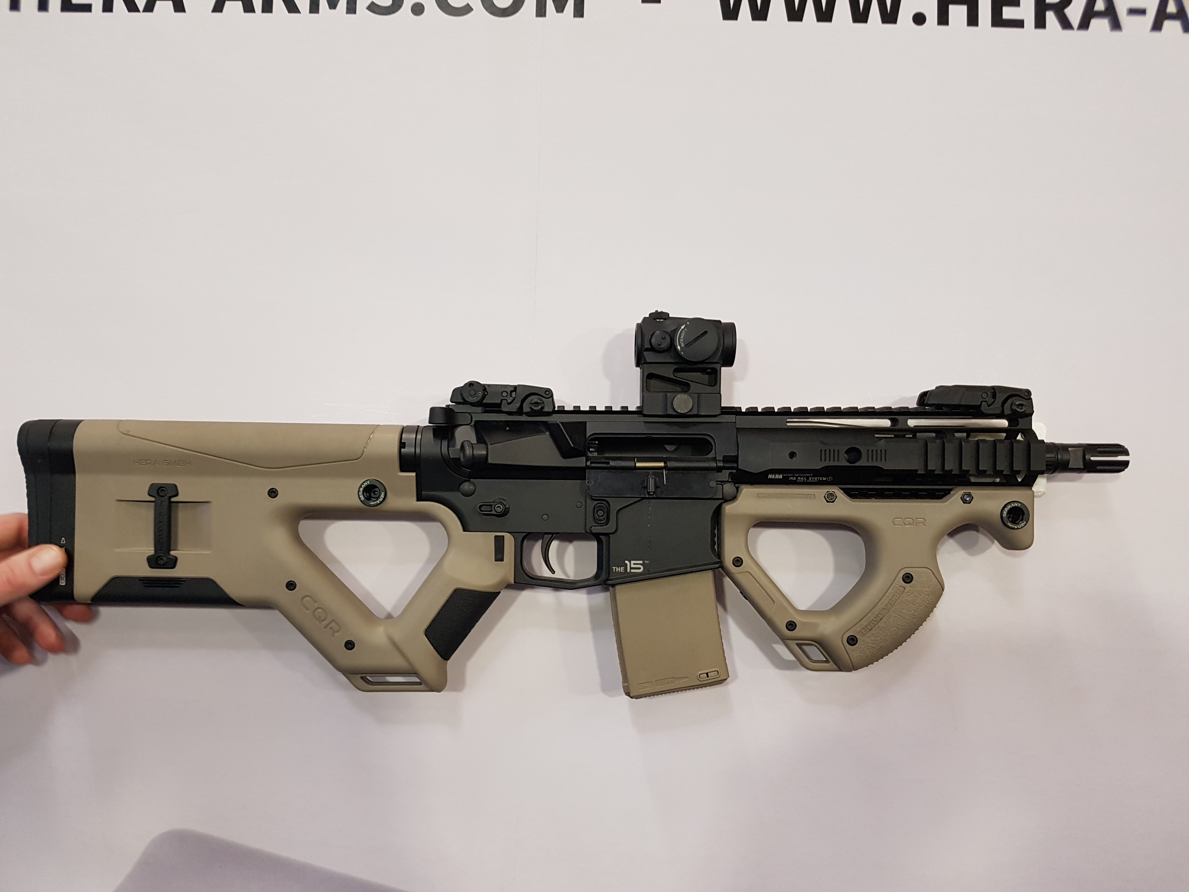 Hera arms cqr page 1 ar15 com - Hera Arms Showed Off The New Cqr Stock And Front Grip At Shotshow 2017 It S Been Leaking On The Interwebs But It S Official Release Definitely Made People